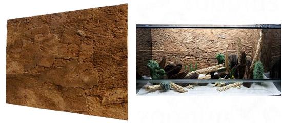 Abri magn tique d cors de fond grotte pour terrarium maganimaux - Decor fond terrarium desertique ...