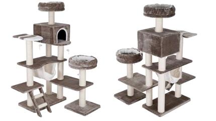Arbre à chat maison pain d'épice XXL