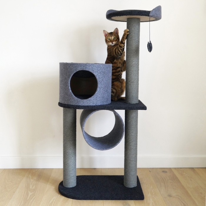 Arbre à chat Charcoal Felt Cat Tower