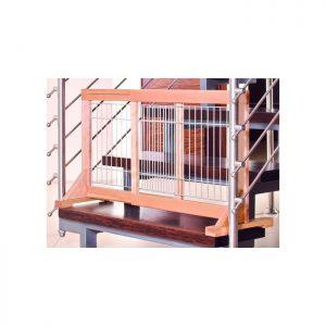 Barrière extensible en bois