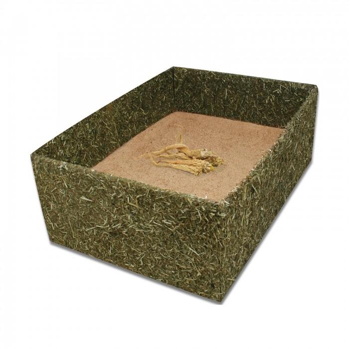 Box de foin avec terre à bain