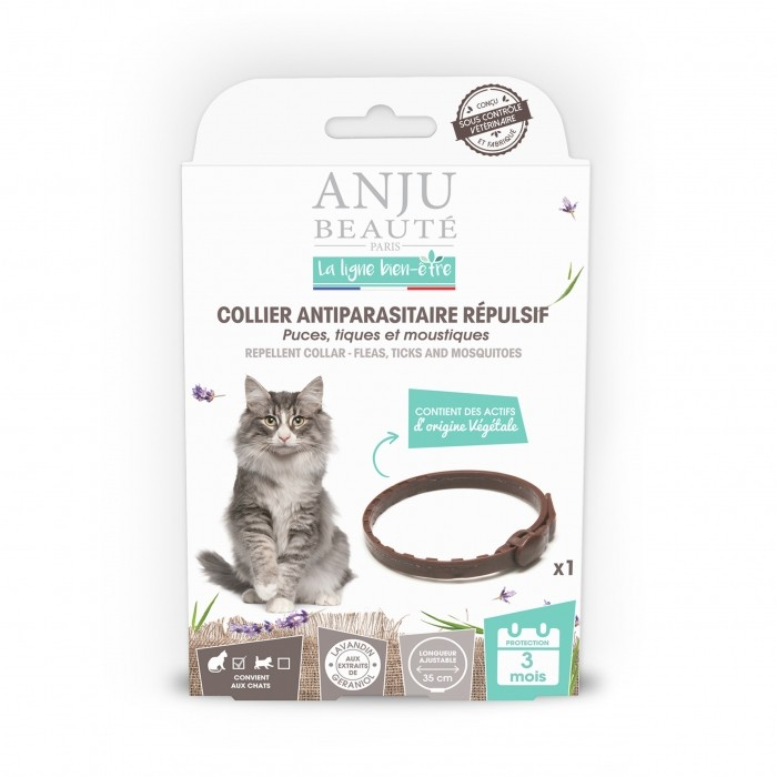 Collier antiparasitaire répulsif chat