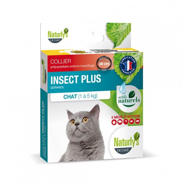 Collier Insect Plus pour chat