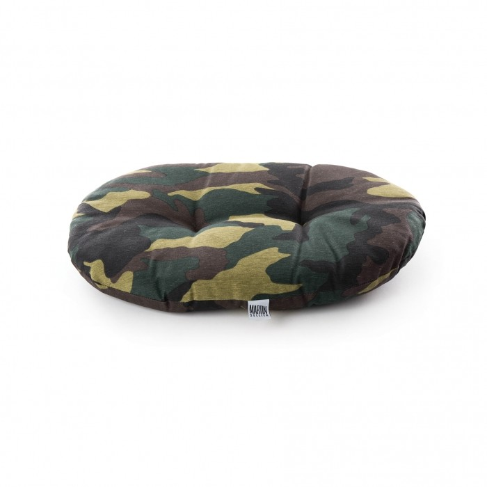 Coussin ovale Camouflage