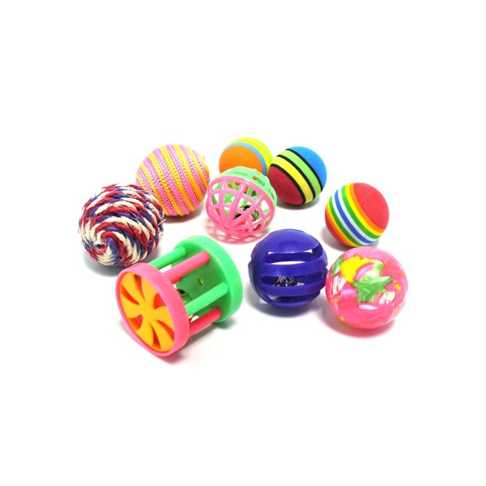 Lot de 9 jouets assortis