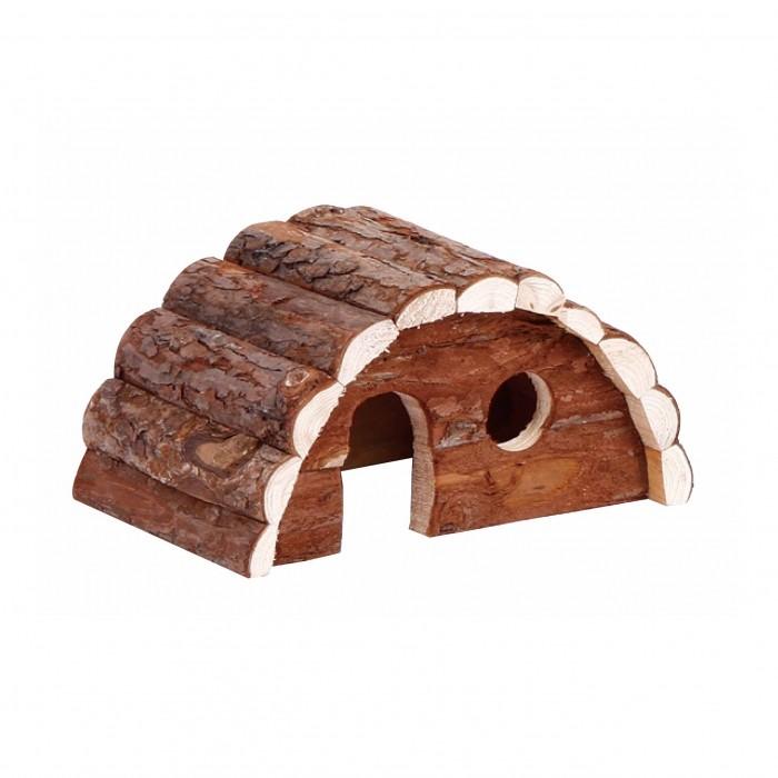 Maison en bois semi-circulaire
