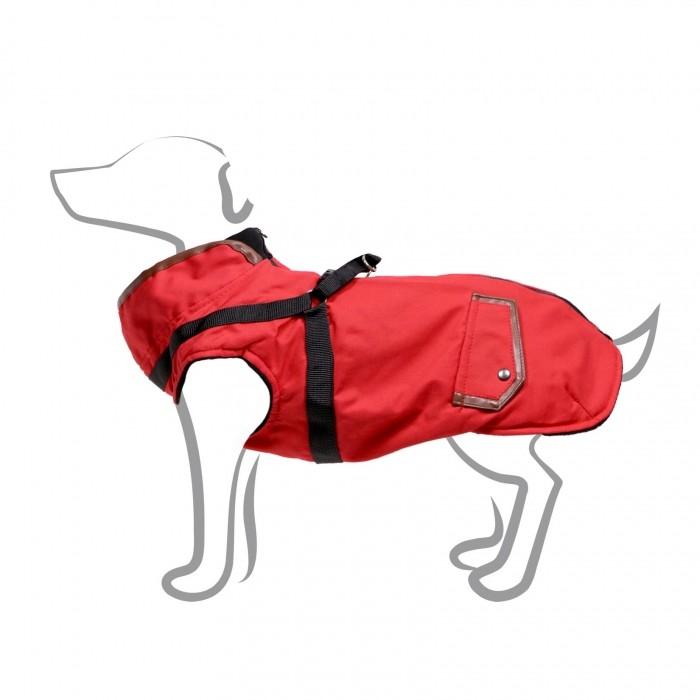 Manteau Trotte avec harnais intégré - Rouge