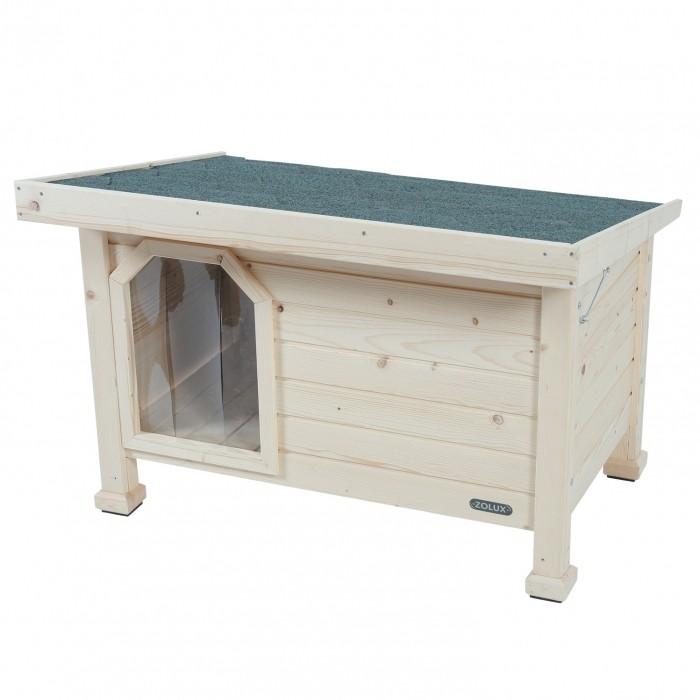 Niche en bois avec toit plat
