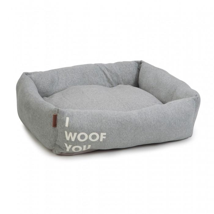 Panier I Woof You - Gris