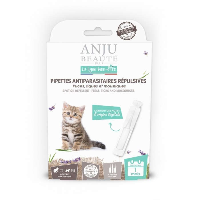 Pipettes antiparasitaires répulsives chaton
