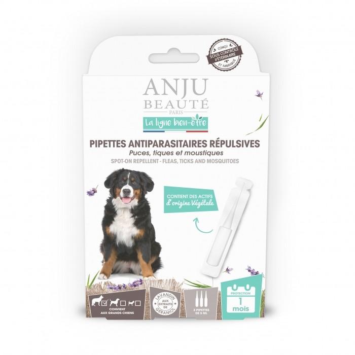 Pipettes antiparasitaires répulsives chien