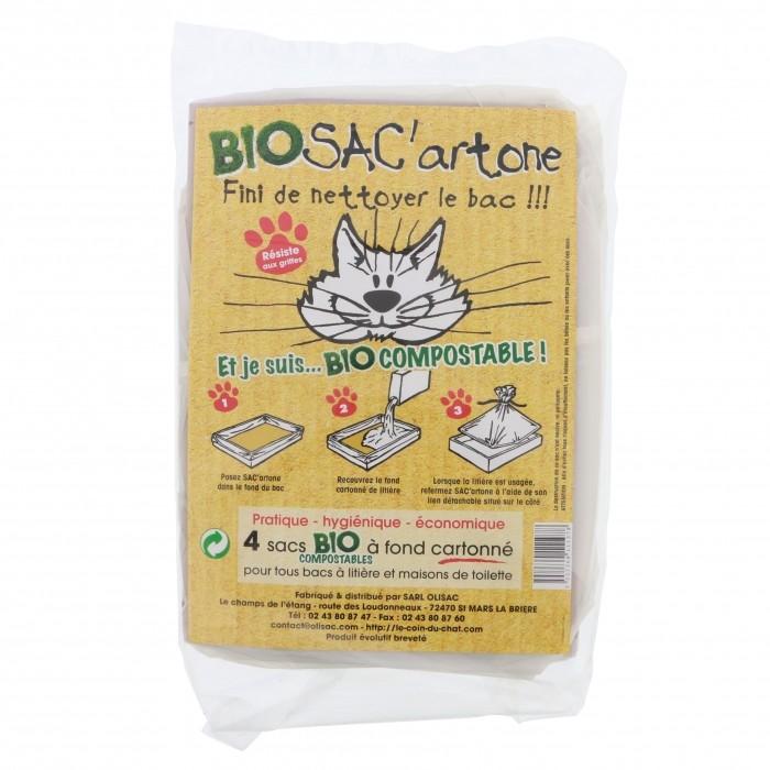Sac à litière Bio SAC'artone