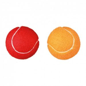 Set de 2 balles de tennis