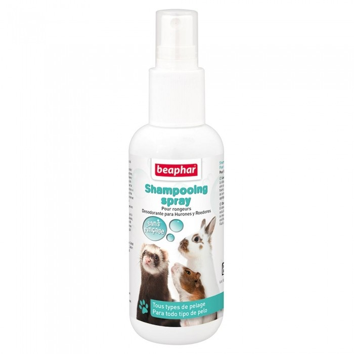 Shampooing sans rinçage pour petits mammifères