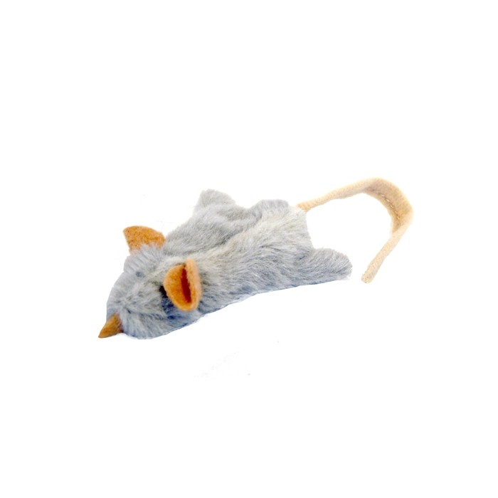 Souris en peluche avec herbe à chat