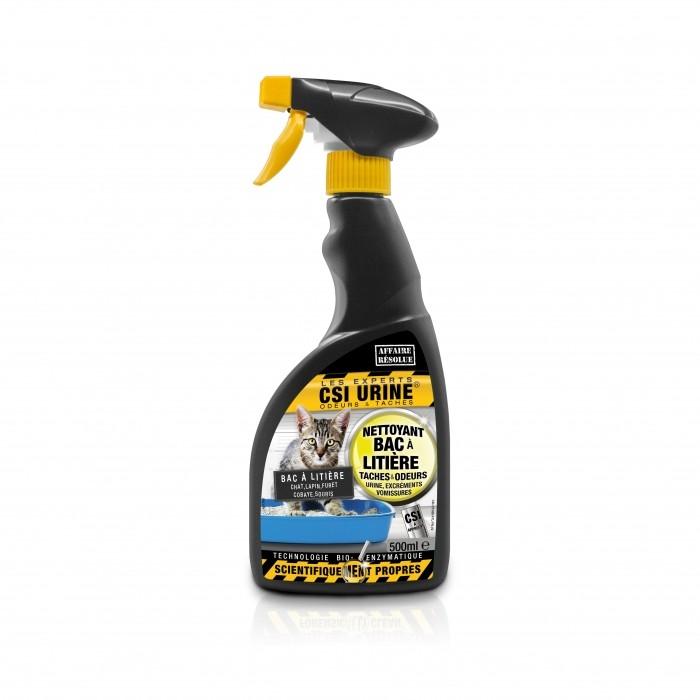 Spray nettoyant bac à litière